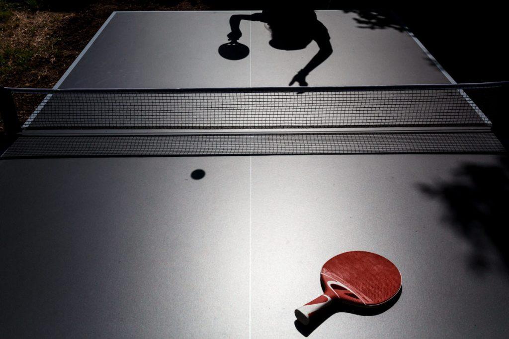 photo de table de ping pong pendant le 1er confinement en région parisienne